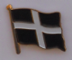 Cornwall County Flag Enamel Pin Badge